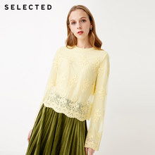 SELECTED Women's Winter Two-tiered Laced Long-sleeved Pullover Knit Sweater S|419113501(China)
