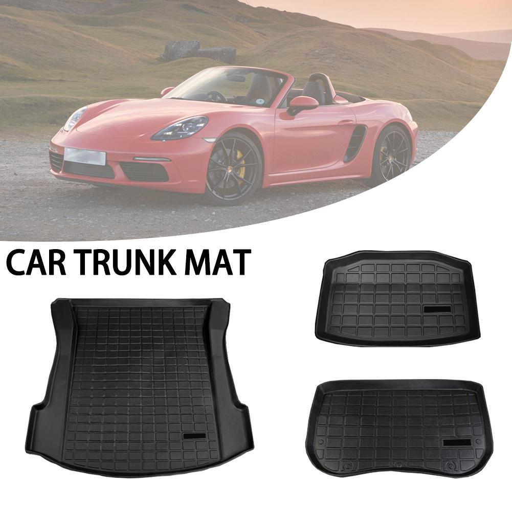 Car Rear Trunk Mat Cargo Tray Trunk Waterproof Protective Pads Mat Compatible For Tesla Model 3 Waterproof Car Rear Trunk Mat