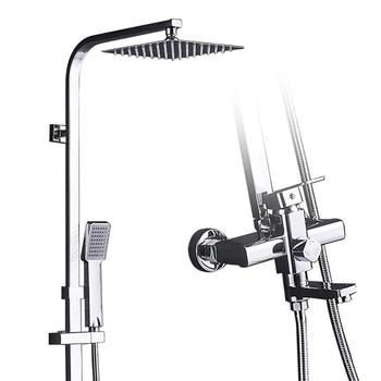 Chrome Shower Cabin Faucet Bathroom Rainfall Bath Shower Mixers shower towel Swivel Spout Bath Spout Waterfall Tub Shower Tap