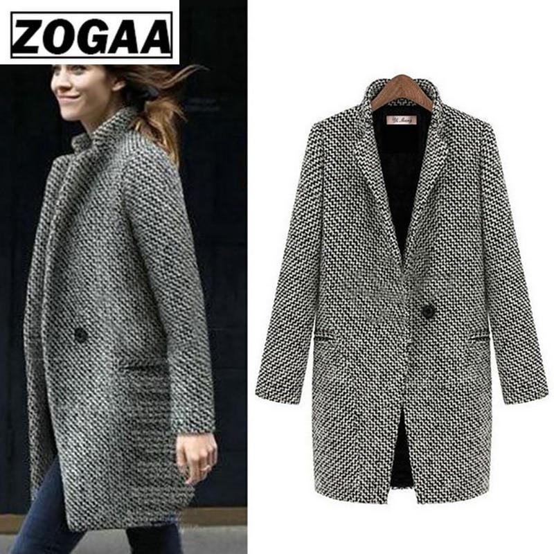 Fashion Long Woolen Women Coat Female Plus Size Winter Autumn Plaid Jacket 2019 Wool Blend Cape Coat Tweed Outwear 5XL 6XL 7XL