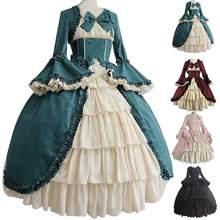 Robe de cour style XVIIe siècle pour femmes, robe de bal à panier, col carré, taille serrée, nœud papillon