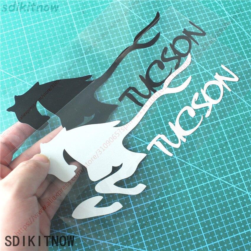 Классная Спортивная наклейка с рисунком лошади для hyundai tucson 2005 2006 2007 2008 2016 2017 2018 аксессуары