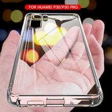 Luxury Shockproof Silicone Case For Huawei P30 P20 Lite Pro P20 P40 Mate 10 20 30 Lite Pro P Smart 2019 Transparent Back Cover cheap BANCMK CN(Origin) Half-wrapped Case For Huawei P30 Case