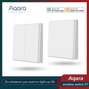 Image 2 - Aqara wireless switch single/double key D1 smart switch Zigbee wireless connection gateway hub for xiaomi mijia Mi Home homekit