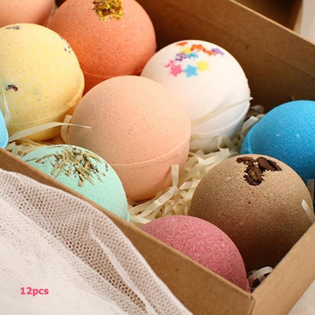 4/12pcs Bath Bombs Shower Salt Ball Bubble Skin Whiten Stress Moisturizing Exfoliating Body Scrub Cleaner Essential Oil Spa 3