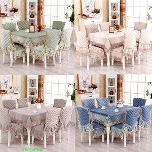 Современная простая хлопковая льняная смесь кружевная Скатерть прямоугольная круглая наволочка для стула однотонная домашняя столовая ск...
