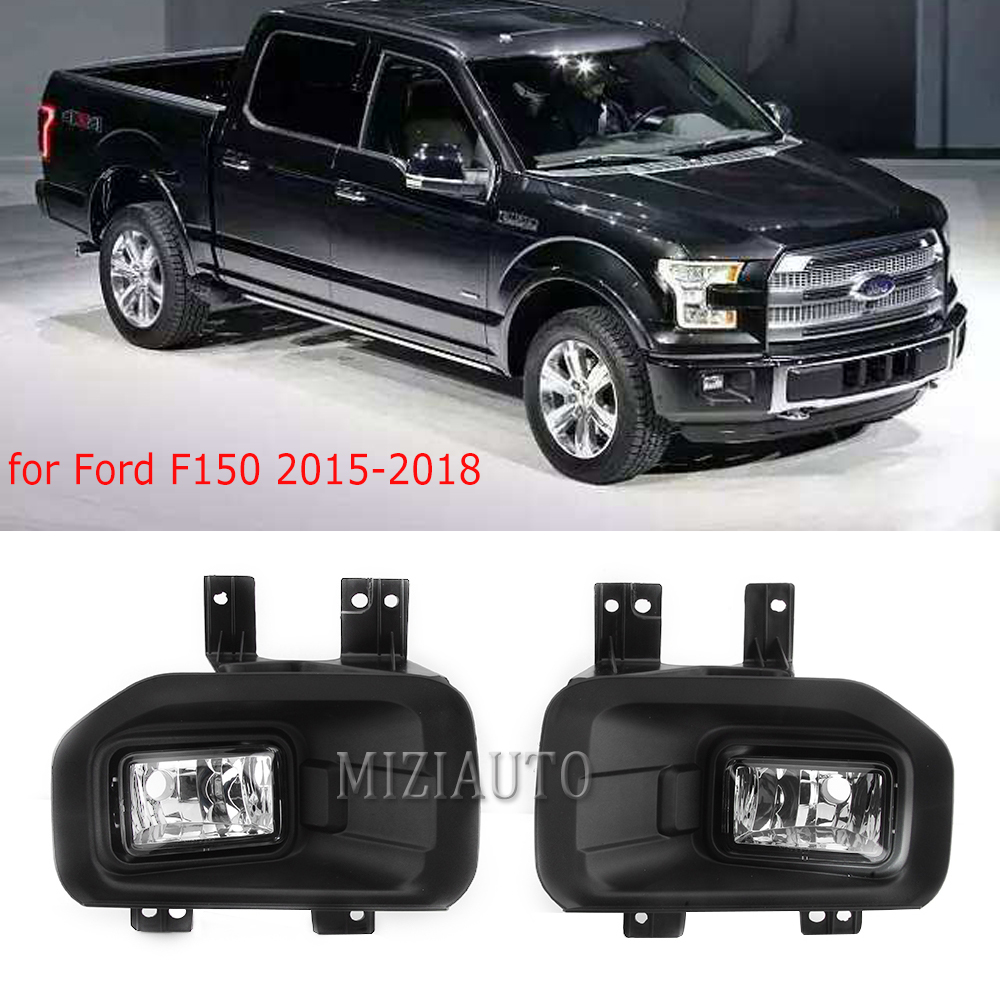 fog light For Ford F150 2015 2016 2017 2018  Fog Lights with cover frame Fog Lights Bumper Waterproof covers Lamps