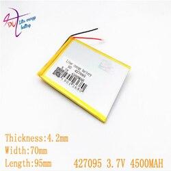 427095 407095 Bateria Li-ion de 4500mAH da bateria do Tablet pc Para 7,8, polegada tablet 3.7V Bateria lithiumion Polímero 9 Com Alta Qualidade