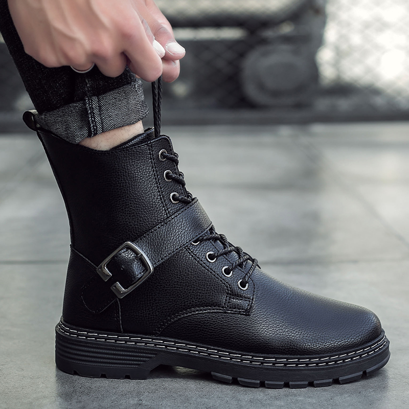 Winter Boots Men Leather Krasovki Scooter Boots High Quality Botas Hombre Male Zapatos De Hombre Men Shoes Casual 2019 Footwear