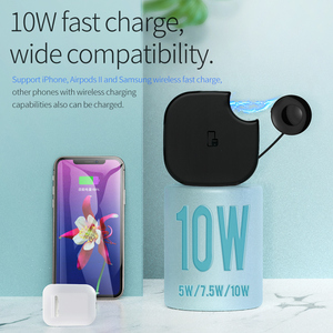 Image 5 - HOCO 2in1 Qi Wireless Charger Pad for iPhone 8 X XS Max XR for Apple Watch 4 3 2 1 10W Fast Wireless charging For Samsung S10 S9