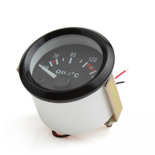 2016 New Audew 2 Inch Universal Car Pointer Oil Temperature Temp Gauge 50-150 with LED Light