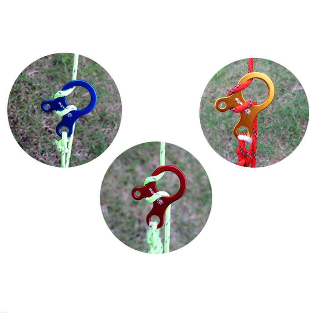 Liga de alumínio de alta qualidade ao ar livre corda três-buraco ferramenta rápida ajuste fivela tenda caracol vento rolha corda fivela