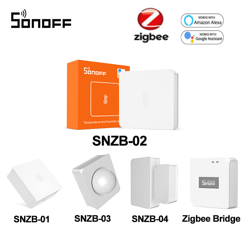 SONOFF SNZB-02 ZigBee Temperature And Humidity Sensor Real Time Notification E-WeLink App Smart Home Work With SONOFF ZBBridge