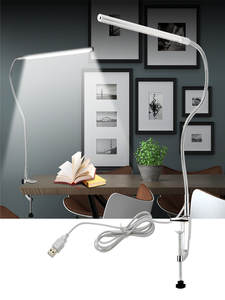 Table-Lamp Book-Light Clip-Mounted Leds Long-Arm USB 48 Ce Eye-Protect