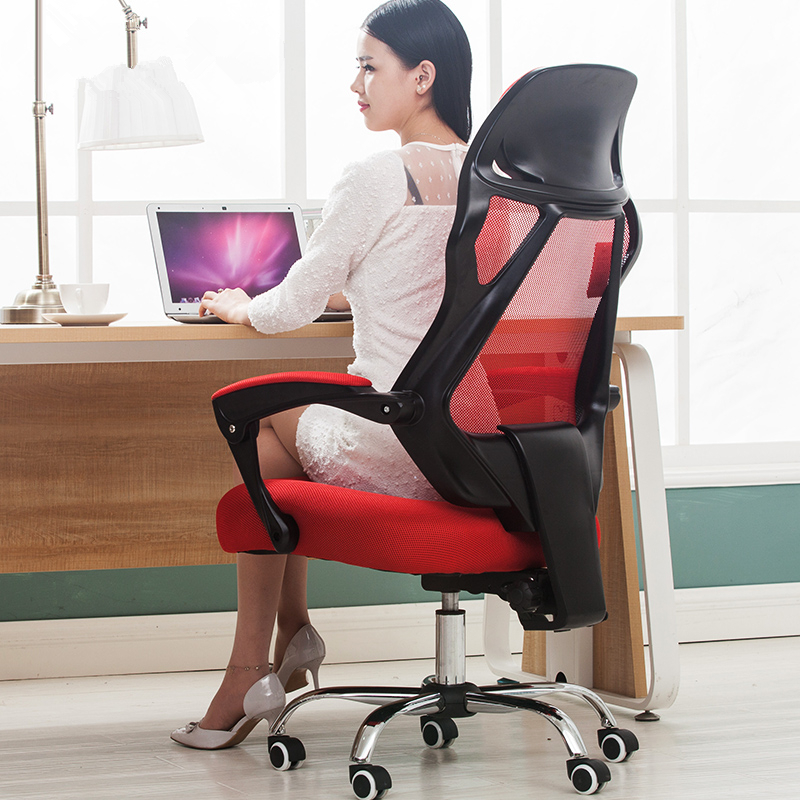 Simple Modern Office Chair Home Mesh Leisure Massage Computer Chair Ergonomic Swivel Boss Chair Seat With Footrest