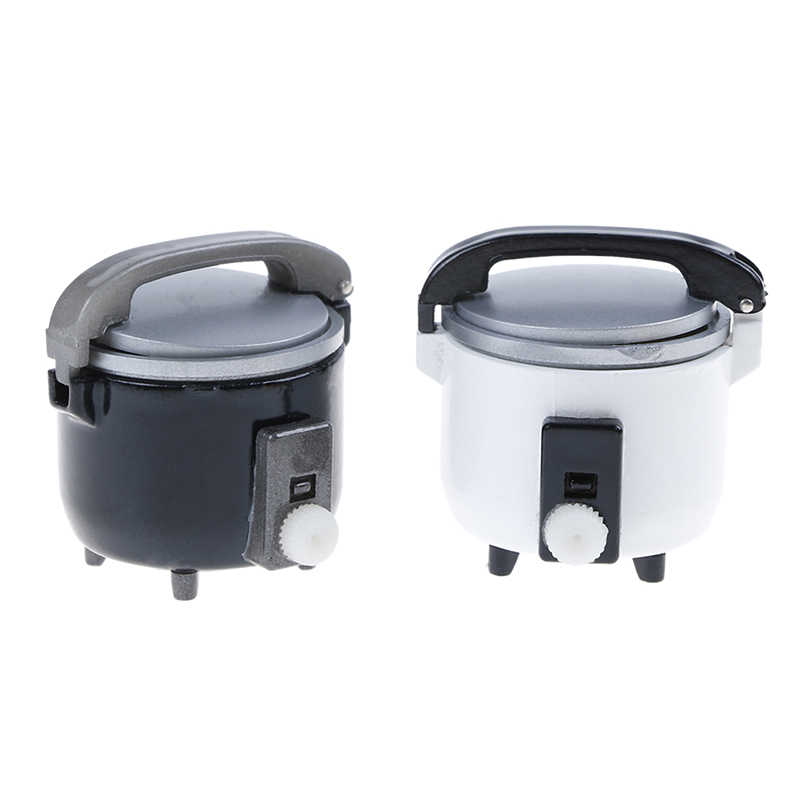 Simulation Mini Dollhouse Rice Cooker Pressure Cooker Sets for 1:12 Scale
