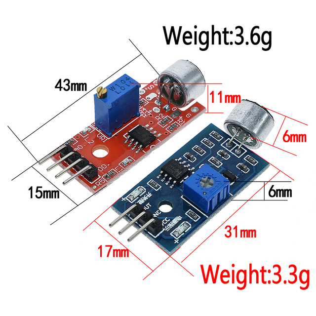 Selling Sound sensor module sound control sensor MAX4466 MAX9814switch detection whistle switch microphone amplifier For Arduino 5