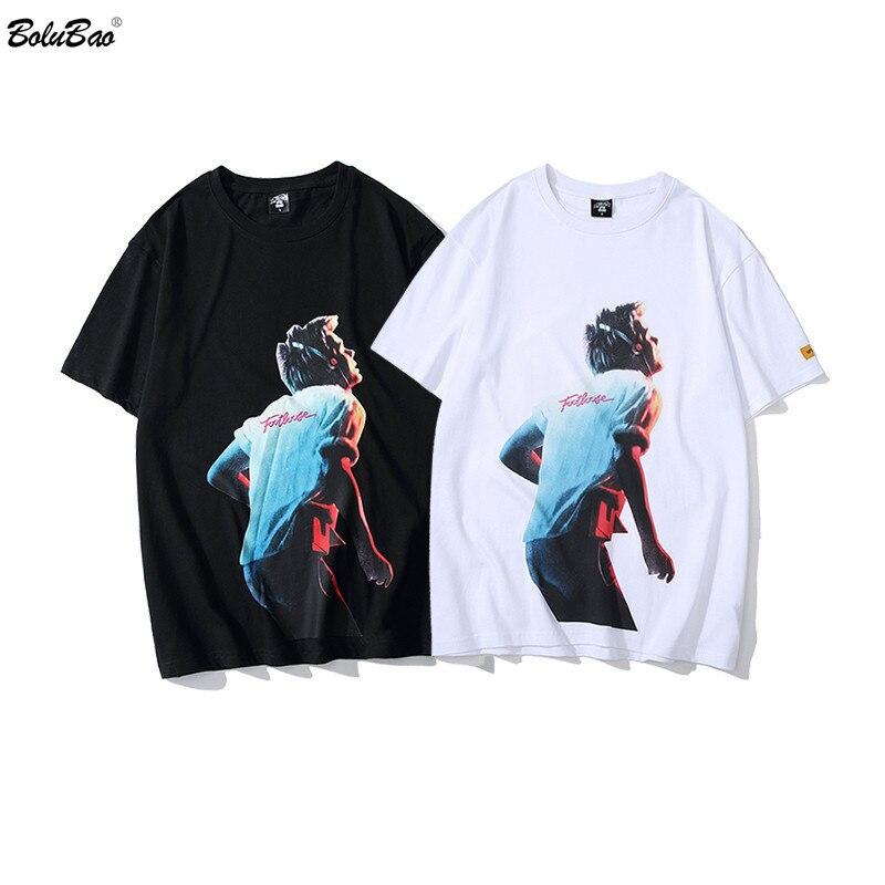 BOLUBAO Fashion Brand Men T Shirts Street Hip Hop Style Men's Print Short Sleeve T Shirt Male Casual Cotton Tee Shirt Tops