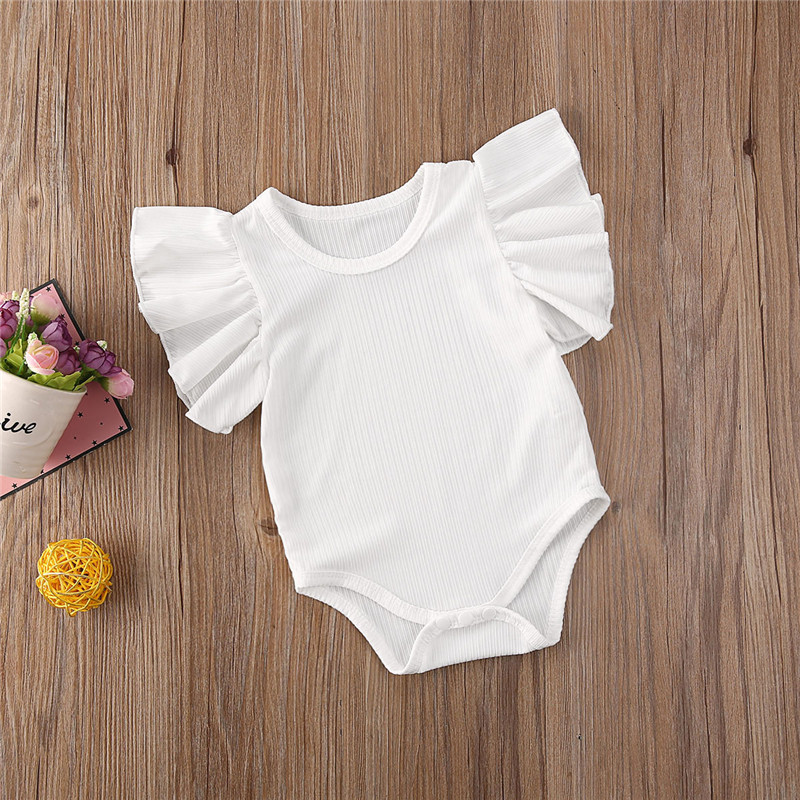 Newborn Infant Bodysuit Baby Girl Cotton Romper Sleeveless Jumpsuit Clothes Set Bebe Baby Body Sunsuit