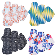 3pcs Reusable Pads Menstrual Pads For Women Waterproof Hygiene Napkin Panty Liner Washable Bamboo Charcoal Cloth Sanitary Pads