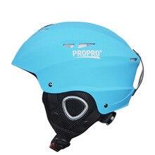 Защитный лыжный шлем для снежных видов спорта, ветронепроницаемый осенне-зимний цельный, для взрослых и детей, АБС-пластик, для сноуборда, для улицы, теплый, дышащий