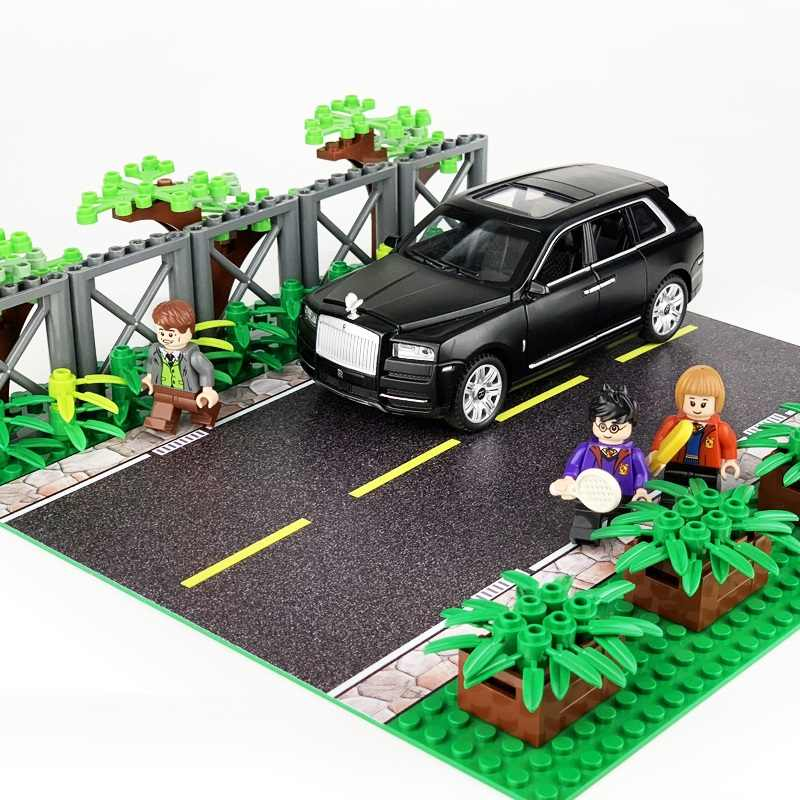 Sand Table Road Streetscape Mini Figures Military Weapons Parts Accessories Playmobil City Bricks Building Block Original Toys