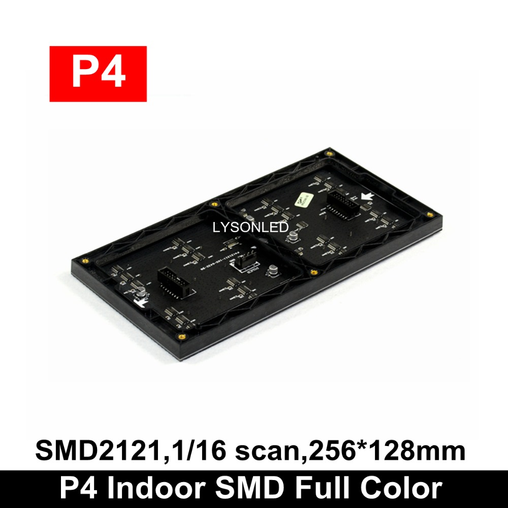 LYSONLED 40 Pcs/lot P4 Indoor SMD Full Color Led Display Module 256x128mm, 1/16 Scan SMD2121 Indoor P4 LED Module 64x32dots