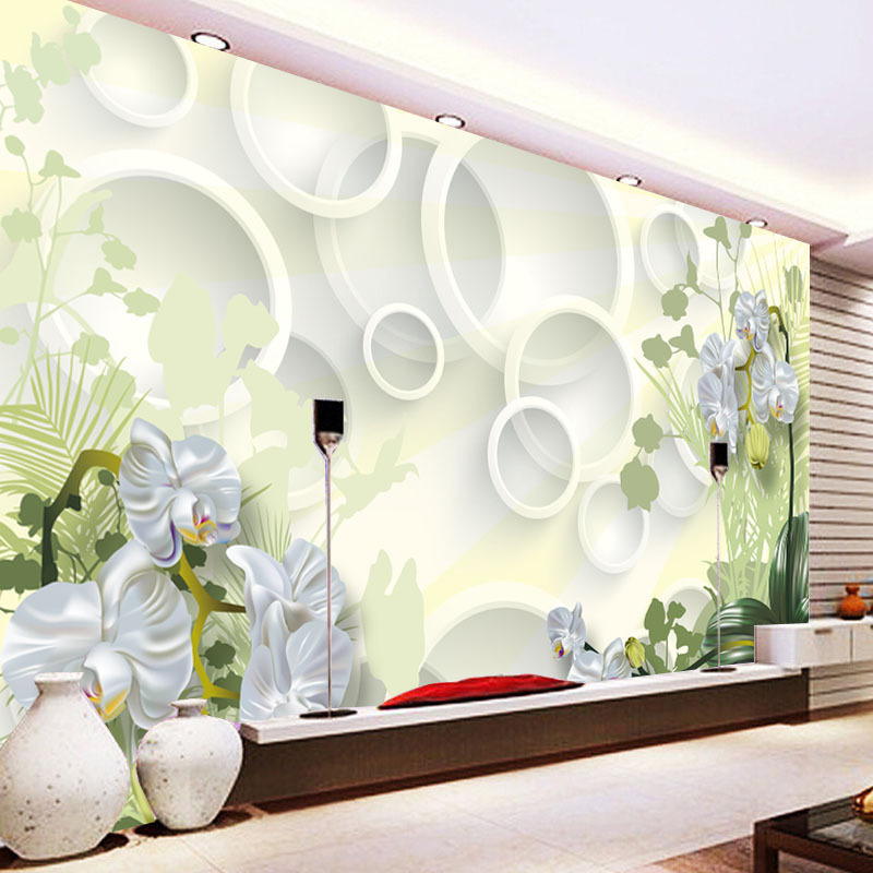 3D Wallpaper Mural TV Backdrop Living Room Sofa Wall Mural Non-woven Wallpaper Large Mural Manufacturers