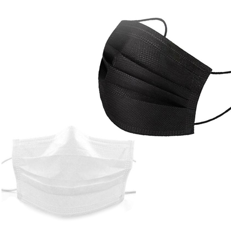 50 Black and 100 White Disposable Dust Masks for Protection and Ventilation