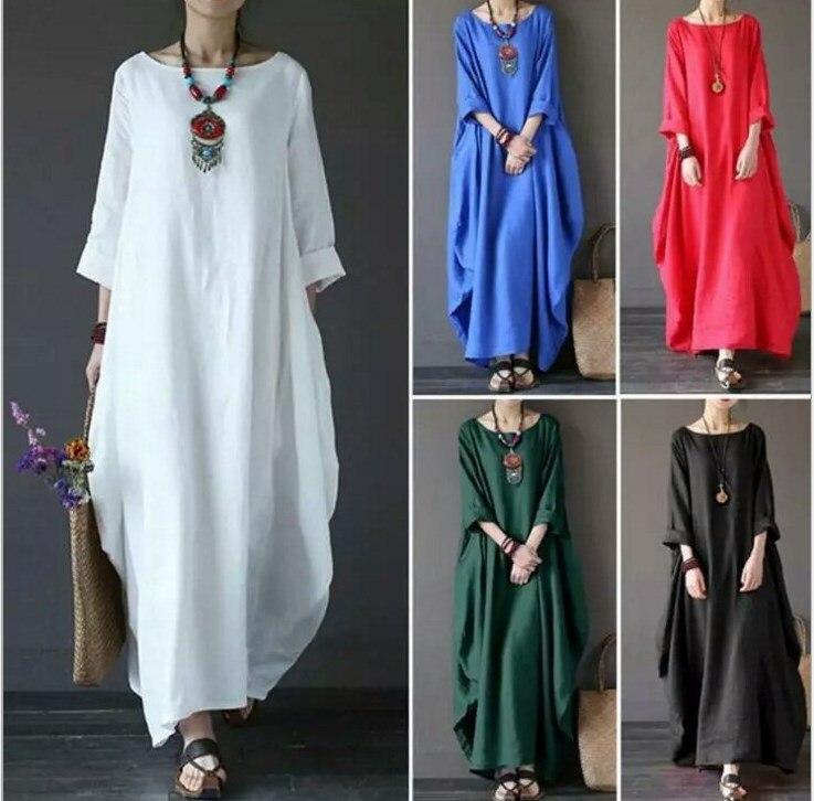 Plus Size Summer Shirt Dress Evening Female Vintage Party Oversize Short Sleeve Beach Women Dresses Robe Vestido Maxi Prom Linen