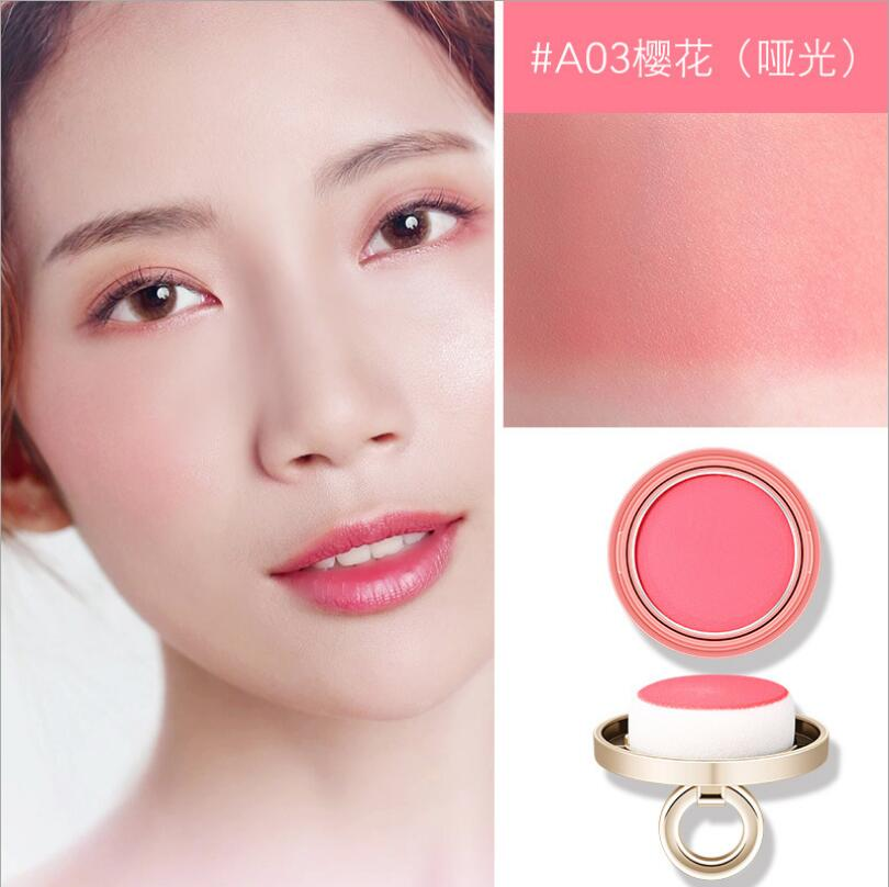 3 cores pequeno sino rosa rosto blush