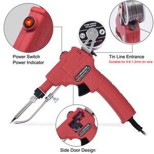 Image 2 - NEWACALOX EU/US 60W Hand held Soldering Iron Internal Heating Automatically Send Tin Gun with Power Switch Solder Gun Tool Kit