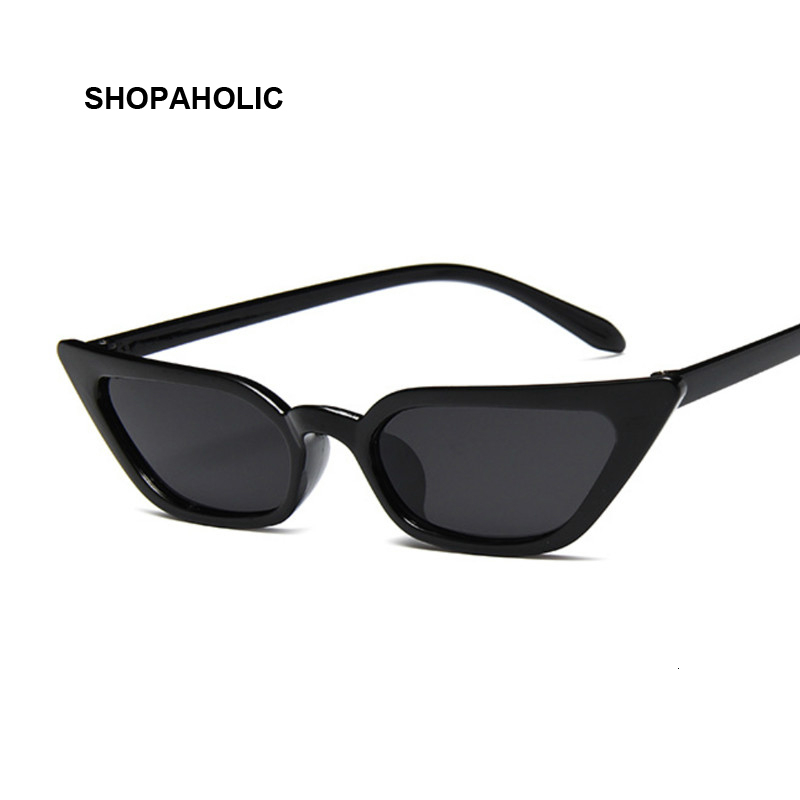 Lunettes De soleil œil De chat, style rétro, lunettes De soleil De marque, noir, rose, rouge, pour femmes