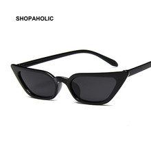 Gafas De Sol pequeñas con forma De ojo De gato para mujer, anteojos De Sol femeninos De marca De diseñador, a la moda, Retro, en Negro, Rosa y Rojo