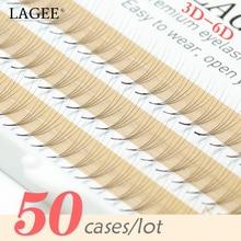 LAGEE 50 kılıf rus hacmi kirpik uzantıları Premade fanlar yanlış kirpik kirpik toplu olarak toplu makyaj aracı