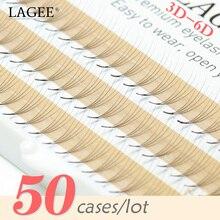 Накладные ресницы LAGEE 50, пряди для наращивания ресниц в русском стиле