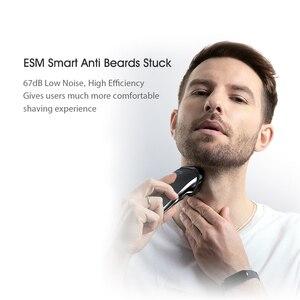 Image 2 - Afeitadora eléctrica Youpin Blackstone para hombre, máquina de afeitar recargable para Barba