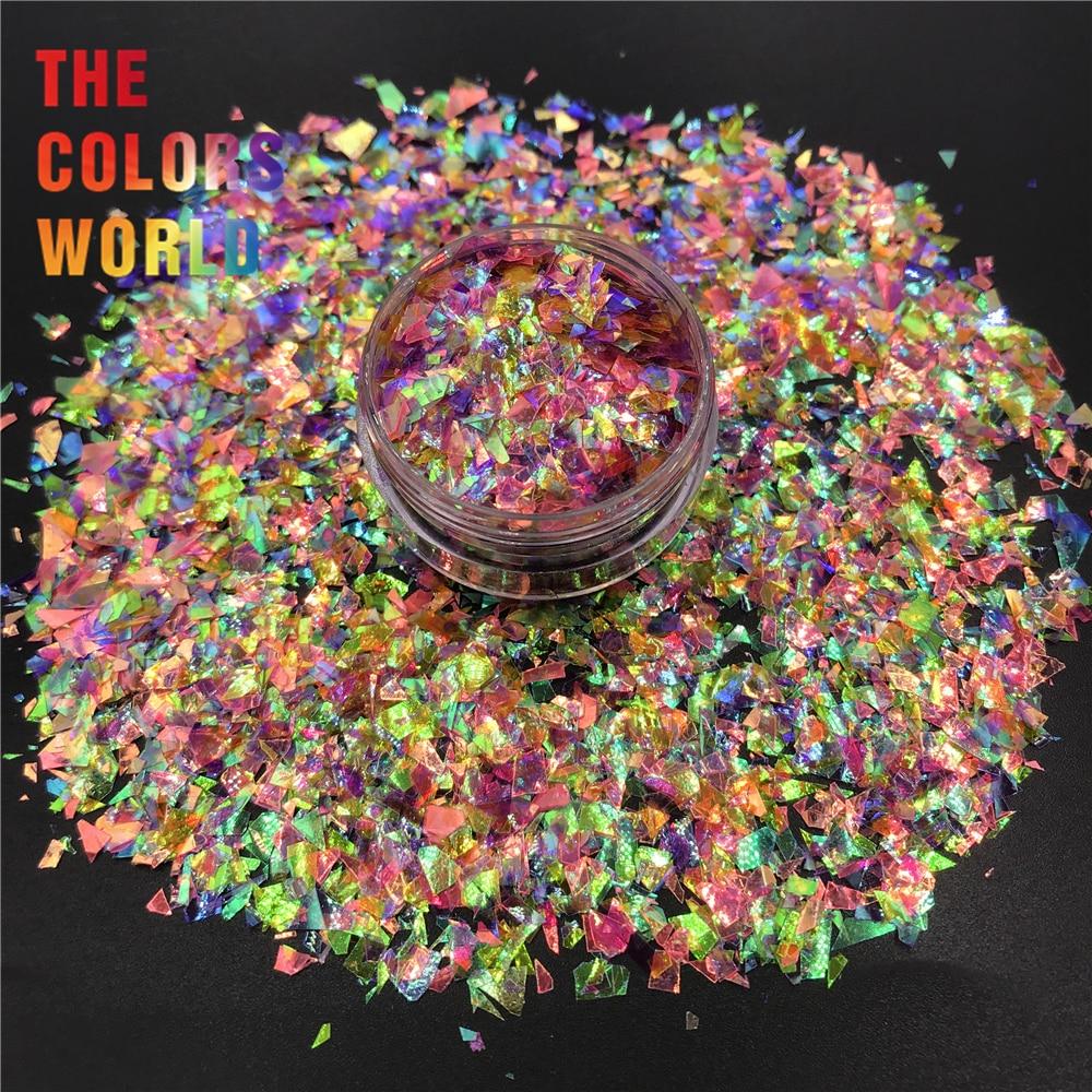 TCT-405 Mix Shards Rainbow Irregular Mylar Flakes Nail Glitter Nail Art Decoration Tumbler Handwork Crafts Festival Accessories(China)