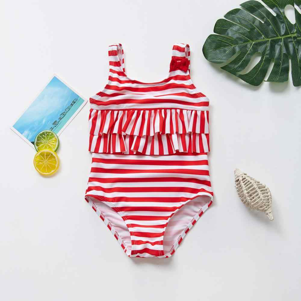 ICECTR Toddler Baby Girl Swimsuit Ruffle Sleeveless Leopard Print Romper Bikinis Beachwear Swimming Outfits