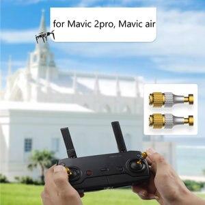 Image 2 - Drone ayarlanabilir uzaktan kumanda alüminyum alaşım Rocker sopa Mavic 2 Pro hava Mini aksesuarları ekran kontrol