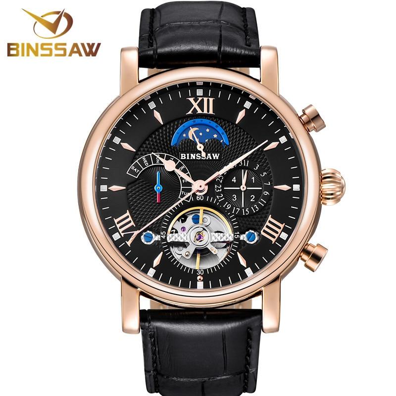 Men Tourbillon Automatic Mechanical Watch Fashion Casual Luxury Brand Sports Leather Business Designer Watches Relogio Masculino
