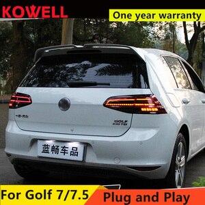 Image 3 - Car Styling dla VW Golf 7 Golf 7.5 Taillight 2013 2018 MK7 MK7.5 LED tylna lampa DRL + hamulec + Park + dynamiczny sygnał + światło cofania