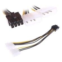 2x 4 دبوس موليكس LP4 إلى 8 دبوس PCI اكسبرس بطاقة الفيديو PSU كابل محول الطاقة E65E