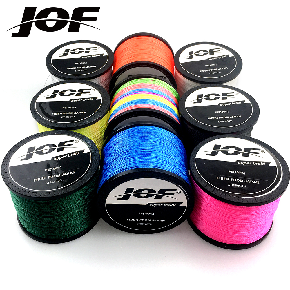 JOF 300M 500M 1000M 4 Strands 8 Strands Multicolour PE Braided Fishing Line