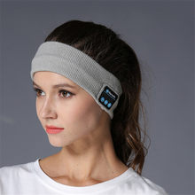 Fashionable Rechargeable Wireless Music Headband Built in Speaker Mic Bluetooth Earphone for Sports