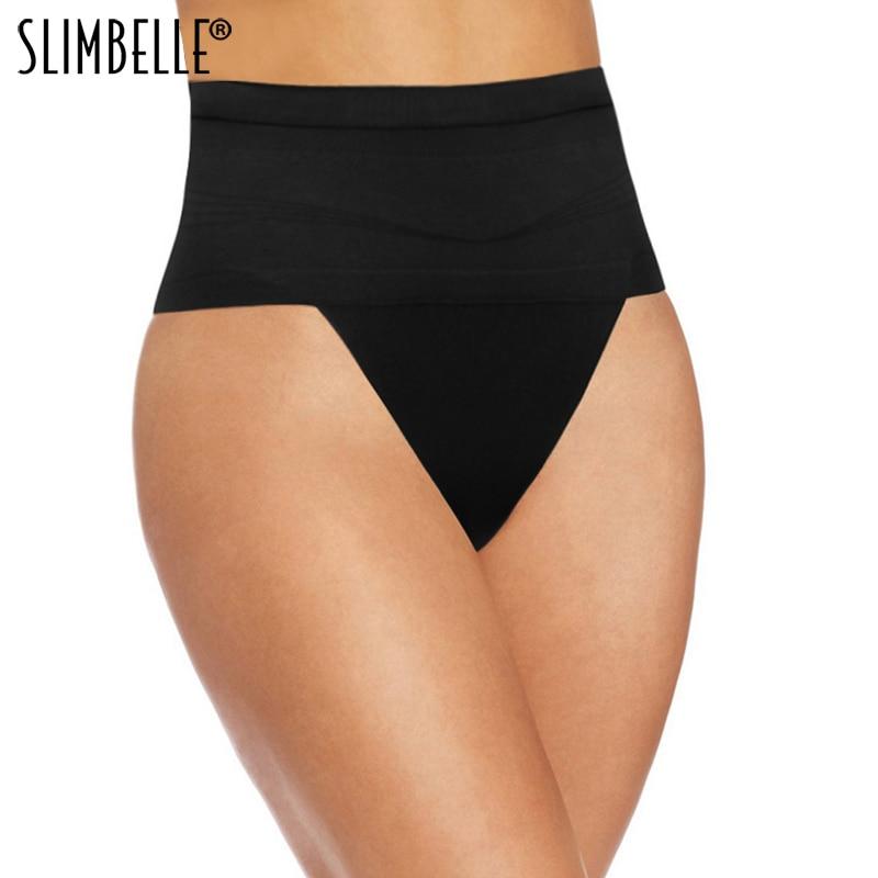 Women Thong Tummy Shaper Shaping Panty Seamless Underwear Waist Cincher Trainer Girdle Faja Shapewear G-string Briefs Plus Size