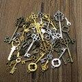 20 шт./лот, Античные Серебристые подвески для ключей, фурнитура для браслета, Металлические Подвески для изготовления ювелирных украшений, п...