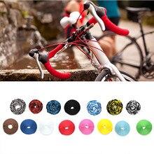 Резиновая противоскользящая и амортизирующая лента на руль для шоссейного велосипеда, велосипедная ручка, ремень, пробковая обмотка с заглушками# P4