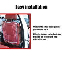 Прозрачный автомобильный органайзер для заднего сиденья сумка для хранения водонепроницаемый защитный чехол C66