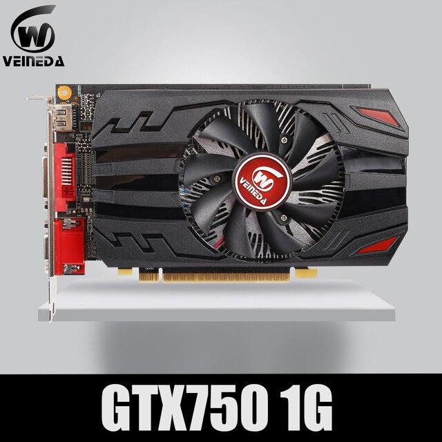 Veineda Video kartı % 100% orijinal GPU GTX750 1GB GDDR5 grafik kartı Instantkill GTX650Ti ,HD6850, r7 350 nVIDIA Geforce oyunları